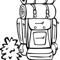 Backpacker coloring page