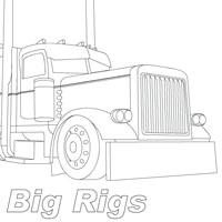 peterbilt semi trucks coloring pages | Peterbilt Semi Truck Coloring Pages Sketch Coloring Page