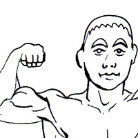 body building coloring page