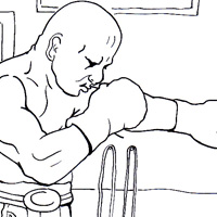 boxing coloring picture