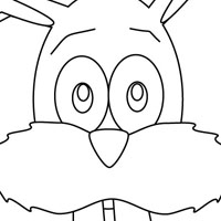 Bunny kids coloring page