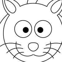 Cat free coloring page