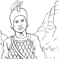 Celt infantry coloring picture