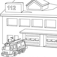 Fire dept coloring pages