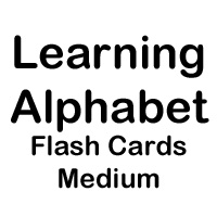 flashcards medium letters