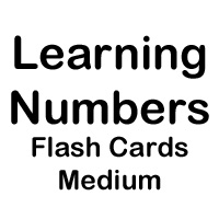 flashcard medium numbers