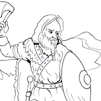 Frank warrior coloring page