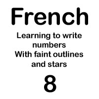 french number huit handout