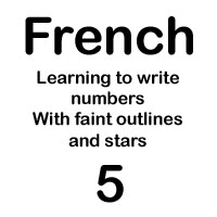 french number cinq handout