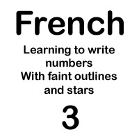 french number trois handout