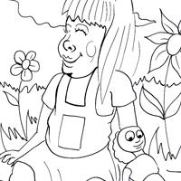 girl doll coloring picture