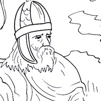 Gothic warrior coloring page