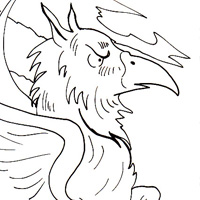 griffin coloring page