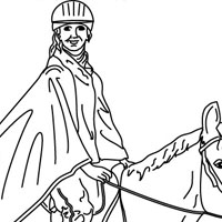 Horse coloring page