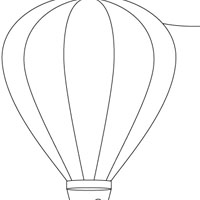 Air Baloon coloring page