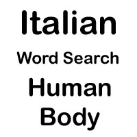 italian word search body