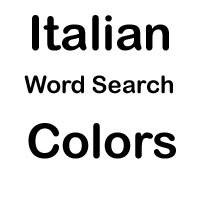 italian word search colors