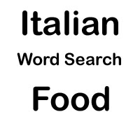 italian word search food