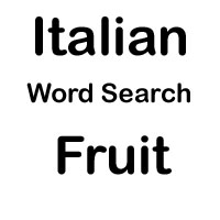 italian word search fruits