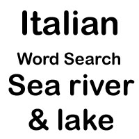 italian cross word lake