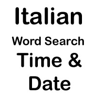 italian cross word time and date