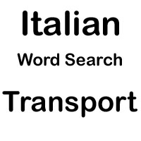 italian cross word transport