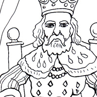 king coloring pic