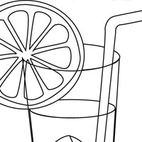 Food coloring pages for kids for Lemonade coloring page