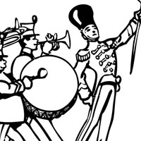 marching band coloring pages - marching band printable coloring pages