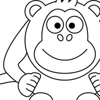 Monkeys coloring page
