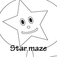 moon and star maze