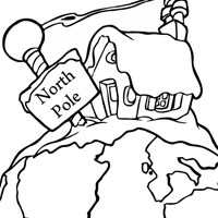 free north pole coloring pages - photo#15