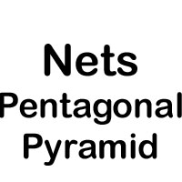 Net of a pentagonal pyramid