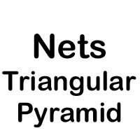Net of a triangular pyramid