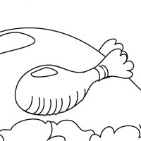 Roast duck coloring page
