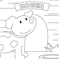 Roger the dog coloring page