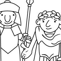Romans coloring page
