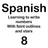 spanish number ocho handout