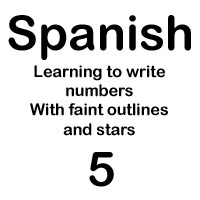 spanish number cinco handout