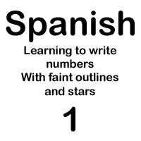 spanish number uno handout