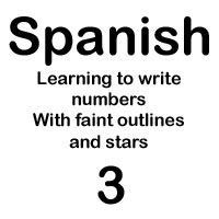 spanish number tres handout