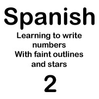 spanish number dos handout