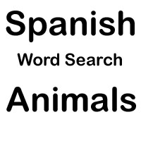 spanish word search animals
