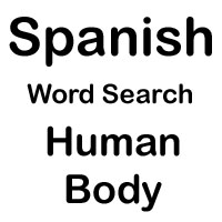 spanish word search body
