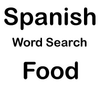 spanish word search food