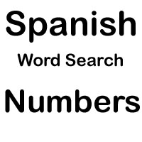 spanish word search numbers
