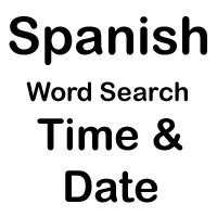spanish cross word time and date