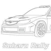 Pin rally car colouring pa on pinterest for Rally car coloring pages