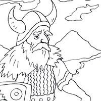 Viking coloring picture