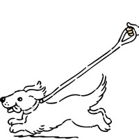 Walking dog coloring page